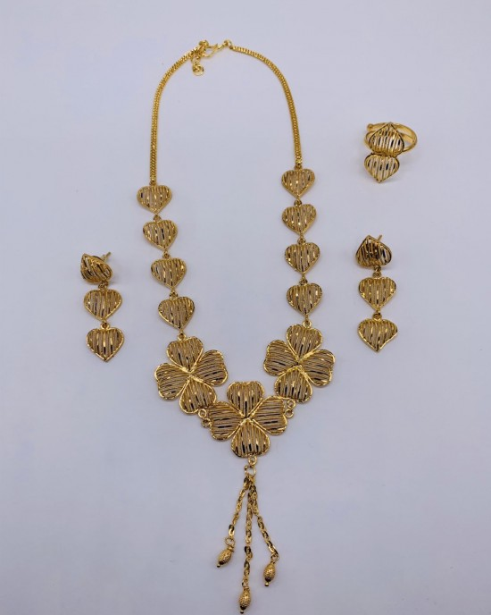 Zoya Gold Plate Jewellery Set - Jewellery sets - STYLE 2028