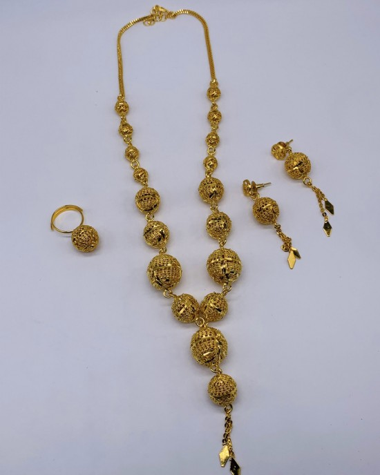 Leena 22K Gold Plated Jewellery Set - Jewellery sets - STYLE 2030