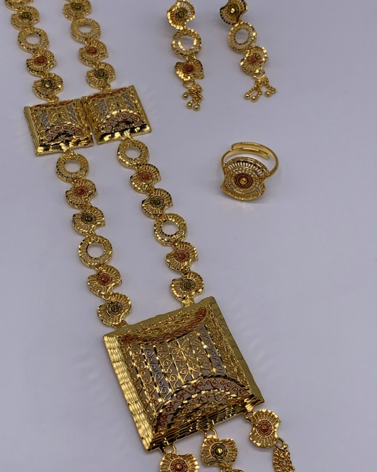 Nyla Gold Plated Costume Jewellery Set - Jewellery sets - STYLE 2020