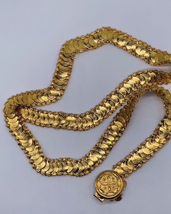 22K Gold Plated Coins Bridal Belt - Jewellery sets - STYLE 2024