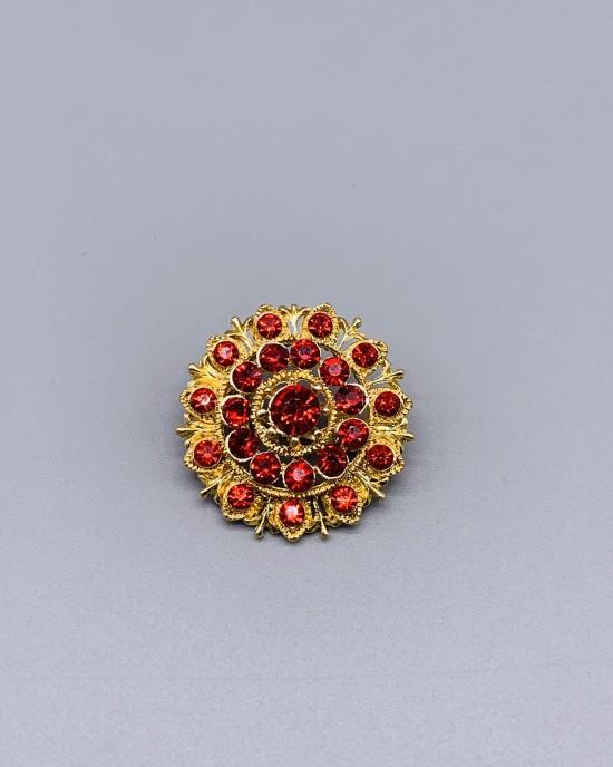 Rhinestone Mandala Brooch - Brooches - BR002