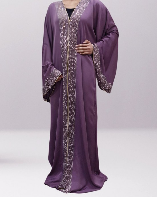 Haya Star Light open abaya style uk - Abayas - HA19