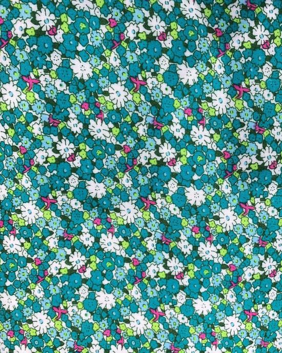 Cotton Floral Prayer Dress - Green Floral