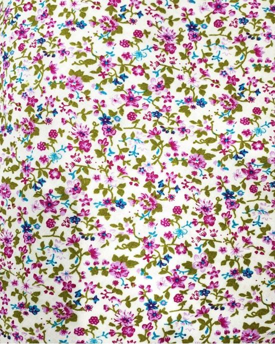 Cotton Floral Prayer Dress - Lilac Floral Print