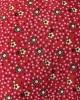 Cotton Floral Prayer Dress - Red