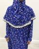 One Piece Royal Blue Floral Prayer Dress - Prayer Dress - PD204