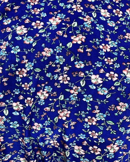 One Piece Royal Blue Prayer Dress With Attached Hijab - Prayer Dress - PD001