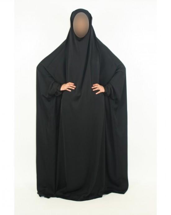 Amani's 1 Piece Black Neda Overhead Jilbab – Burka – Burqa Style UK