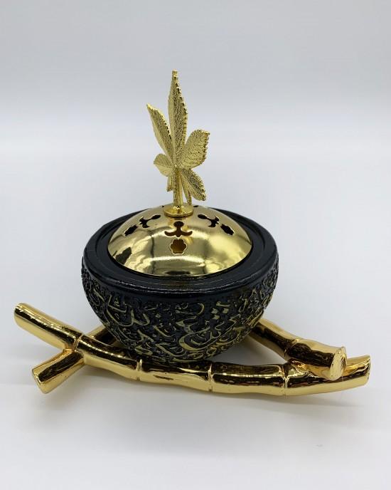 Black Arabic Calligraphy Incense/Bakhoor Burner - BAKHOOR BURNER - BB0001