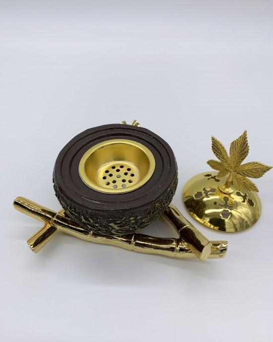 Brown Arabic Calligraphy Incense/Bakhoor Burner - BAKHOOR BURNER - BB0002