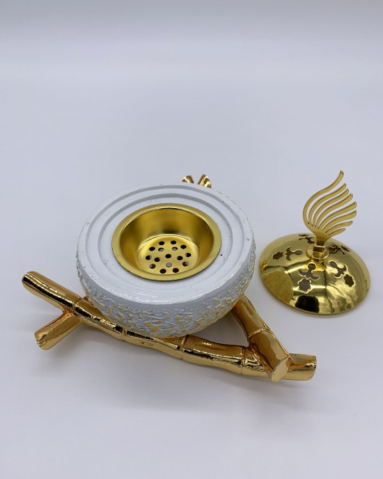 White Arabic Calligraphy Incense/Bakhoor Burner - BAKHOOR BURNER - BB0003