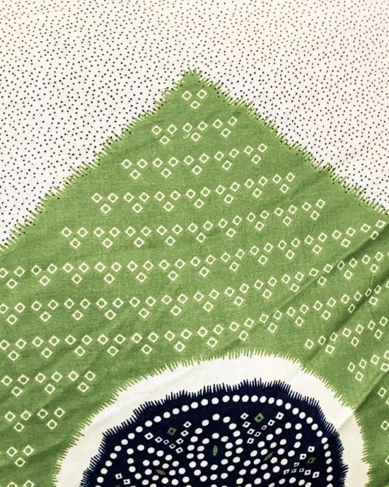 Green Shaash Print Bati Cotton Maxi Dress - Bati Dresses - BATI023
