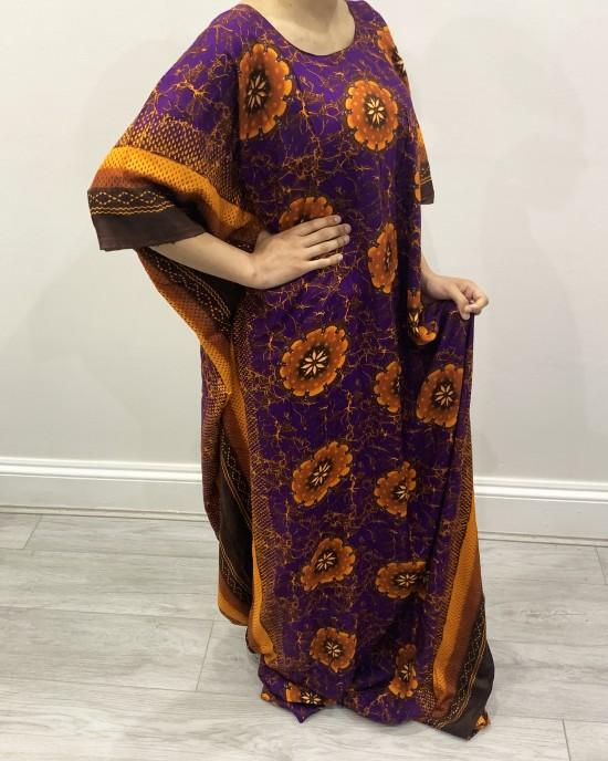 Orange Floral Bati - Bati Dresses - BATI009