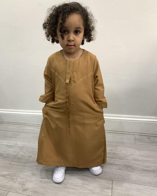 Boys Caramel Emirati Thobe