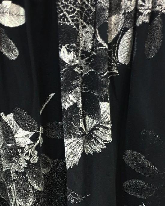 two piece black cotton floral trouser set - New Arrivals - BF19