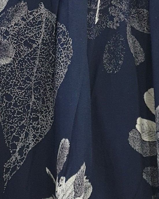 Two Piece Navy Floral Trouser Set - New Arrivals - NF19