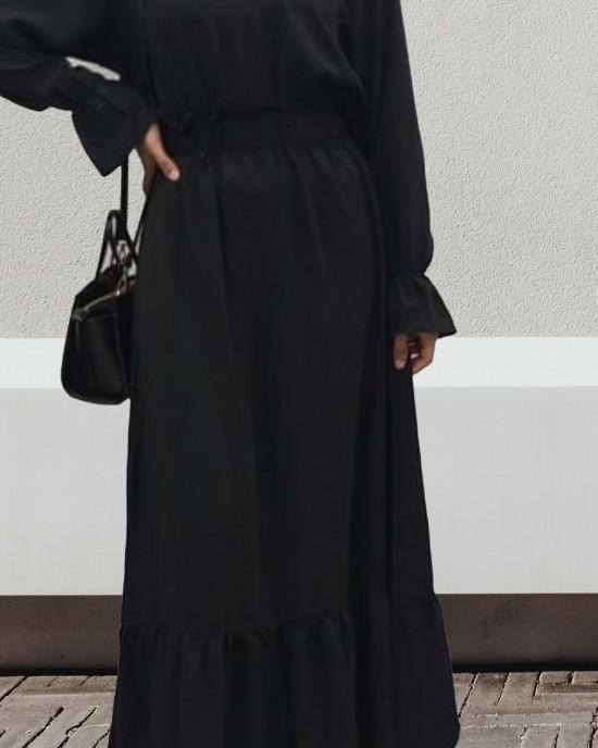 BLACK MAXI DRESS - Long Sleeve Maxi Dresses - DRESS2021