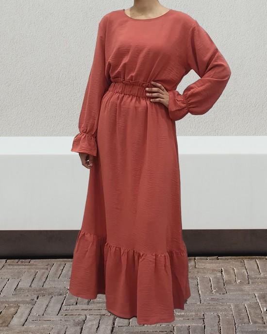 Coral maxi dress - Long Sleeve Maxi Dresses - DRESS2022
