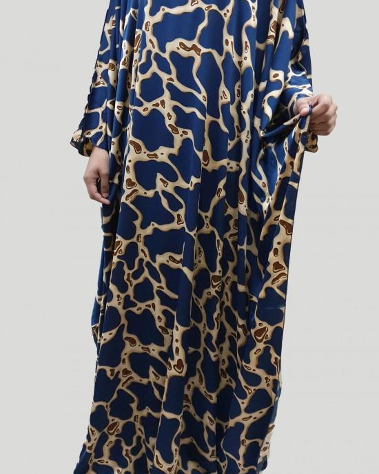 tara silk satin blue kaftan maxi dress - New Arrivals - tara003