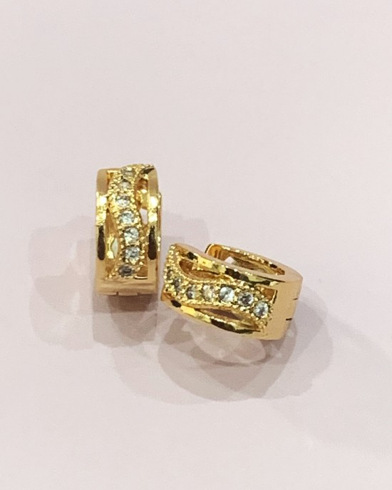 Gold Wide Huggie Earrings - Gold Plated