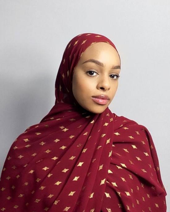 Djamila Occasion Hijab / Scarf -  Occasion Hijabs - HIJ655