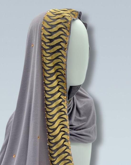 Tiger Stripe Border Hijab