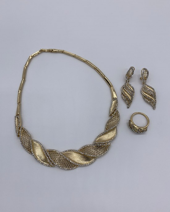 Almas Crystal Jewellery Set - Jewellery sets - STYLE 205
