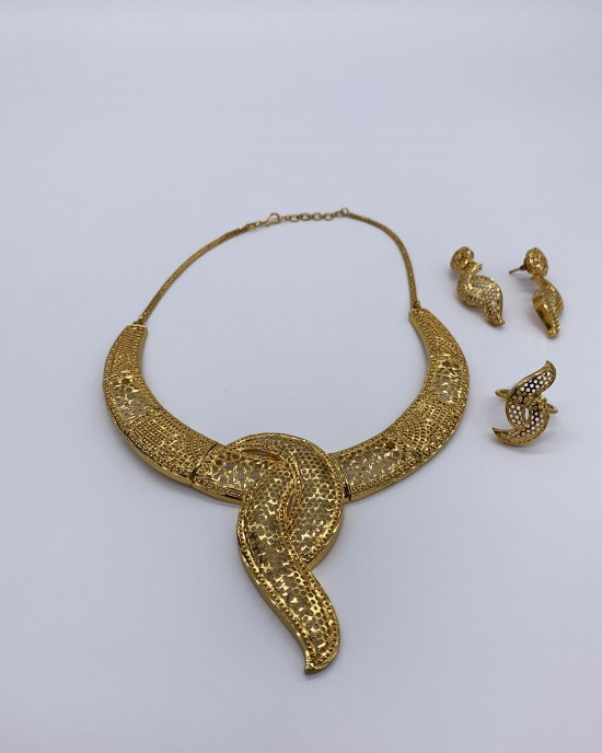 Badra - 22K Dubai Jewellery Set - Jewellery sets - STYLE 207
