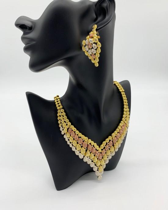 Maira - Multi-Tone Dubai Jewellery Set - Jewellery sets - STYLE 201