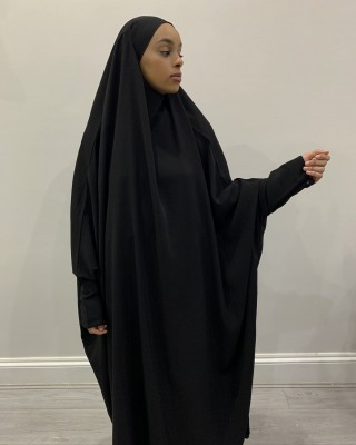 Amani's One Piece Black Overhead Jilbab / Burka