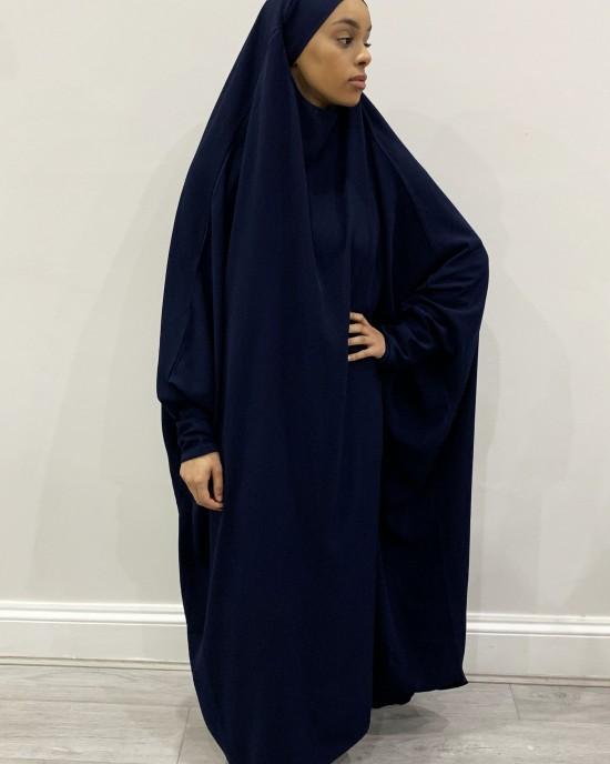 Amani's One Piece Navy Blue Overhead Jilbab / Burka - Burqa - Jilbabs - Burka - JILBAB2022