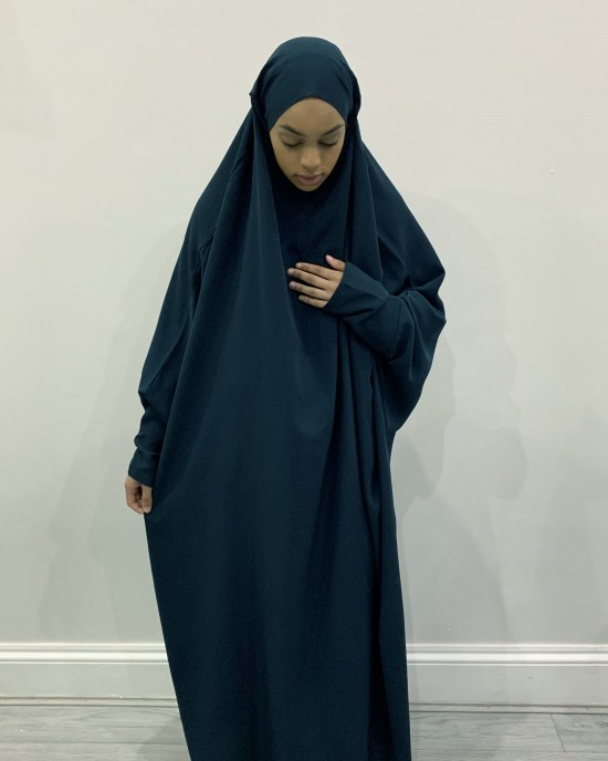 Amani's One Piece Ocean Blue Overhead Jilbab / Burka - Burqa - Jilbabs - Burka - JILBAB2021