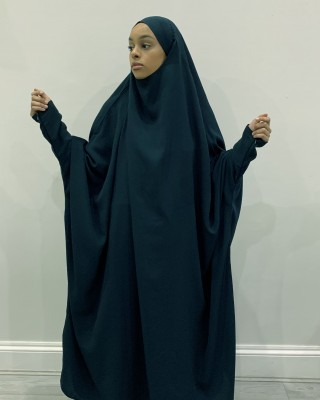 Amani's One Piece Ocean Blue Overhead Jilbab / Burka