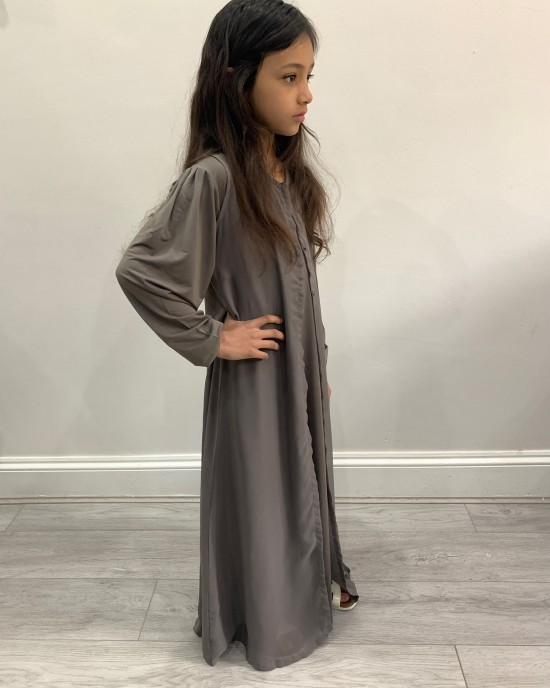 Two Piece Colour Abaya - Taupe