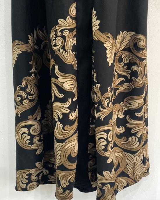 Neda Floral Print Abaya - Brown