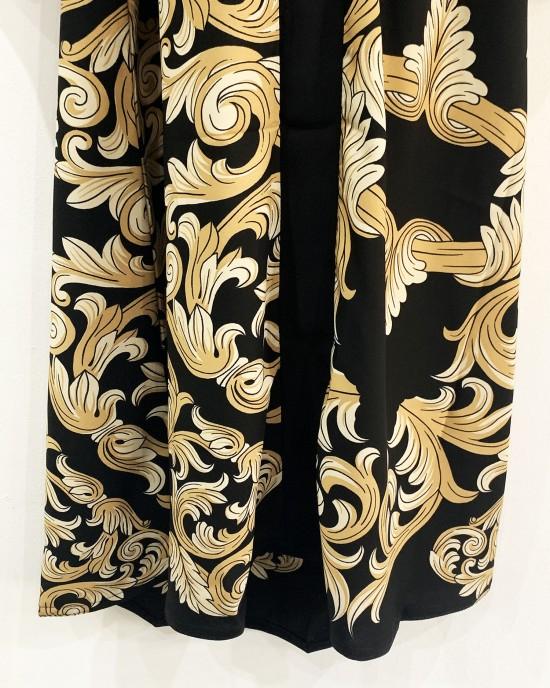 Neda Floral Print Abaya - Cream
