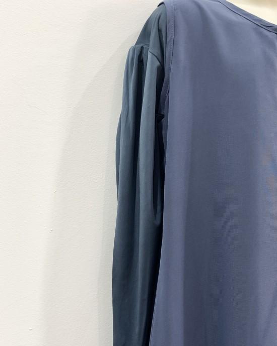 Two Piece Colour Abaya - Pigeon Blue