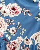 Puff-Sleeved Tiered Dress - Powder Blue