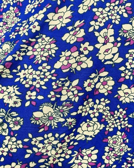 Blue Floral Kids Prayer Dress - Childrens Prayer Dresses - AME050
