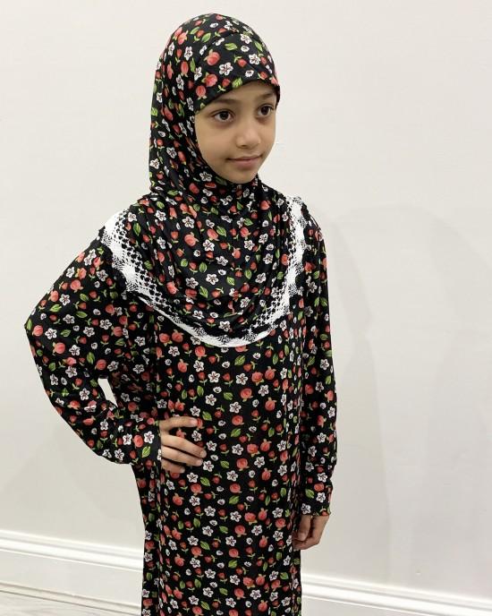 Red Tulips  Kids Prayer Dress - Childrens Prayer Dresses - AME041