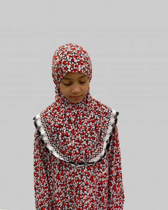 Red Tulips Kids Prayer Dress - Childrens Prayer Dresses - AME005