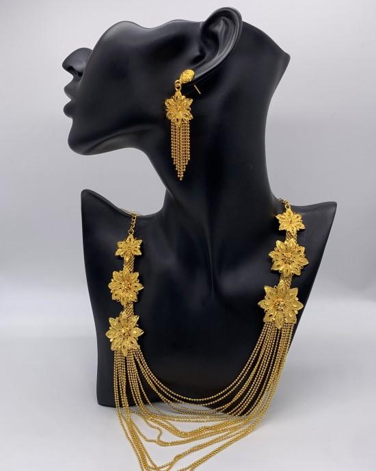 Iman 22K Gold Plated Jewellery Set - Jewellery sets - STYLE 2022