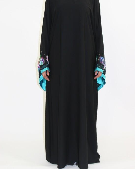 Amani's Large Hands Colour Abaya Style UK - Abayas - Abaya084