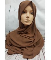 Georgette Hijab - light choco