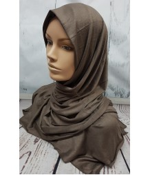 Jersey Hijab - dirty brown