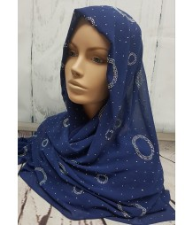 Evening Hijab - dark blue