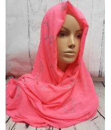 Evening Hijab - neon pink