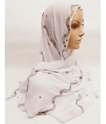 Evening Hijab - white