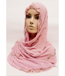 Evening Hijab - lemonade Pink