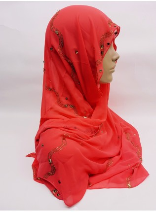 Evening Hijab - candy apple - Scarf
